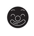 circus emoji black concept icon circus vector image