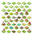 City Map Set 03 Tiles Isometric vector image vector image