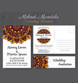 classic vintage wedding invitation card design vector image vector image