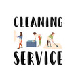 cleaning service girl with rag wipe mirror vector image