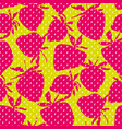 cool concept strawberry seamless pattern vector image