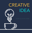 Creative Success Idea Banner vector image vector image