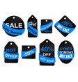 cyber monday sale labels and tags vector image