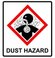 danger Dust Hazard sign vector image