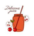 delicious juice design vector image vector image