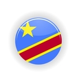Democratic Republic of the Congo icon circle vector image vector image