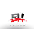 eh e h brush logo letters with red and black