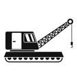 excavator crane icon simple style vector image