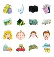Family holiday set icons in cartoon style Big vector image