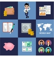 Finance banking set vector image vector image