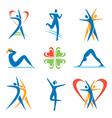 Fitness health icons vector image vector image