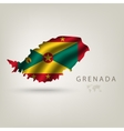 flag grenada as a country with a shadow vector image vector image