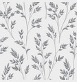 floral pattern with leaves ornamental herb branch vector image vector image
