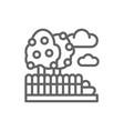 fruit garden landscape line icon vector image vector image