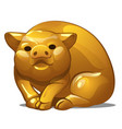 golden figure of pig chinese horoscope symbol vector image vector image