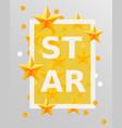 golden stars design elements best concept vector image vector image