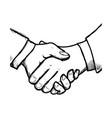 handshake business symbol vector image vector image