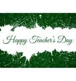 Happy Teacher s Day over ink blots vector image vector image