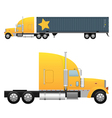 heavy cargo truck vector image vector image