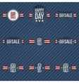 Independence Day Sale patriotic Elements Set vector image vector image