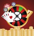 Jackpot design vector image vector image