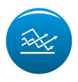 line chart icon blue vector image