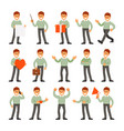 man in different positions vector image vector image