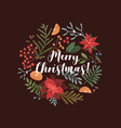 merry christmas greeting card template xmas vector image