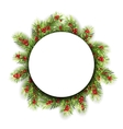 Natural Winter Frame Made in Fir Twigs and vector image vector image