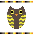 Owl stylized icon warm colors vector image