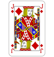Poker playing card Jack diamond vector image vector image