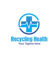 recycling health logo designs vector image vector image