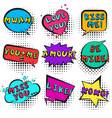 retro comic bubbles set for st valentines event vector image vector image