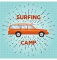 retro flat web banner design on surfing vector image vector image