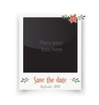Retro wedding greeting cards Template for vector image vector image