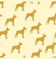 seamless background kids dog german dog vector image