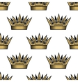 Seamless pattern of golden royal crowns vector image vector image
