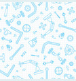 seamless pattern with the details and gears for vector image vector image