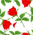 Seamless texture rosebud red rose twig vector image vector image