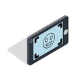 Selfie icon in isometric 3d style vector image vector image