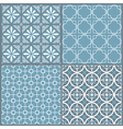 set four seamless geometric pattern vector image