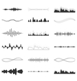 set of audio scales vector image
