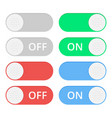 set of colorful toggle switch icons switch vector image vector image