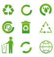 set of recycle icon vector image vector image