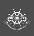 set of yachting badges and logos vector image vector image