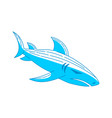 shark blue logo design outline isolated vector image vector image