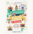 summer fair flyer template vector image vector image