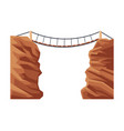 suspension rope bridge natural landscape design vector image