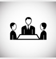 team meeting on white background vector image vector image