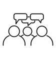 teamwork conversation icon outline style vector image vector image